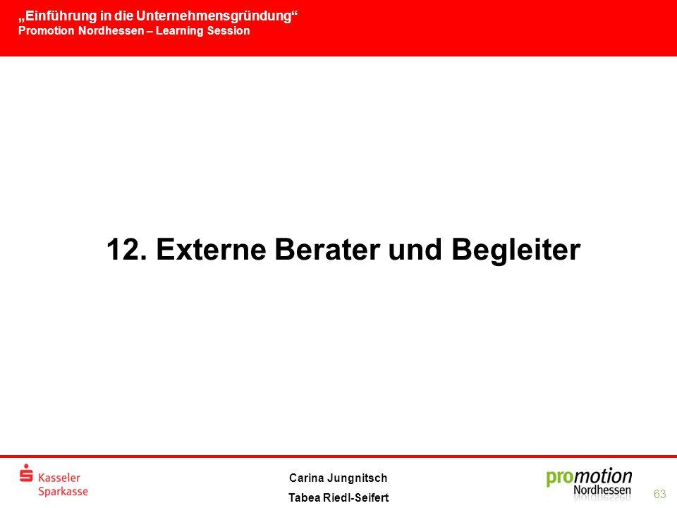 12. Externe Berater und Begleiter