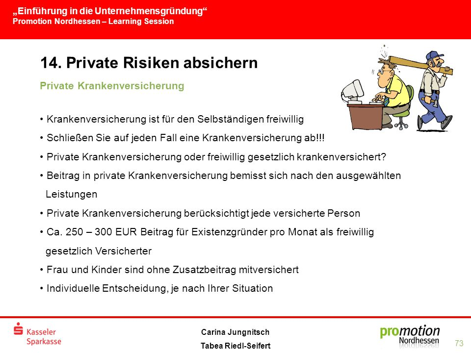 14. Private Risiken absichern