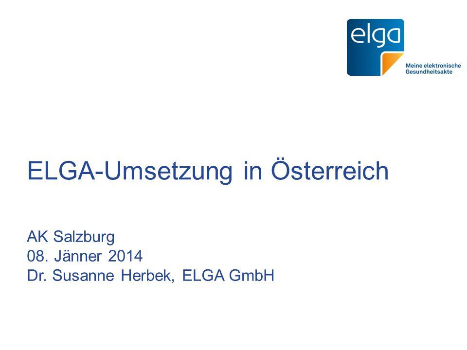 ELGA-Umsetzung in Österreich