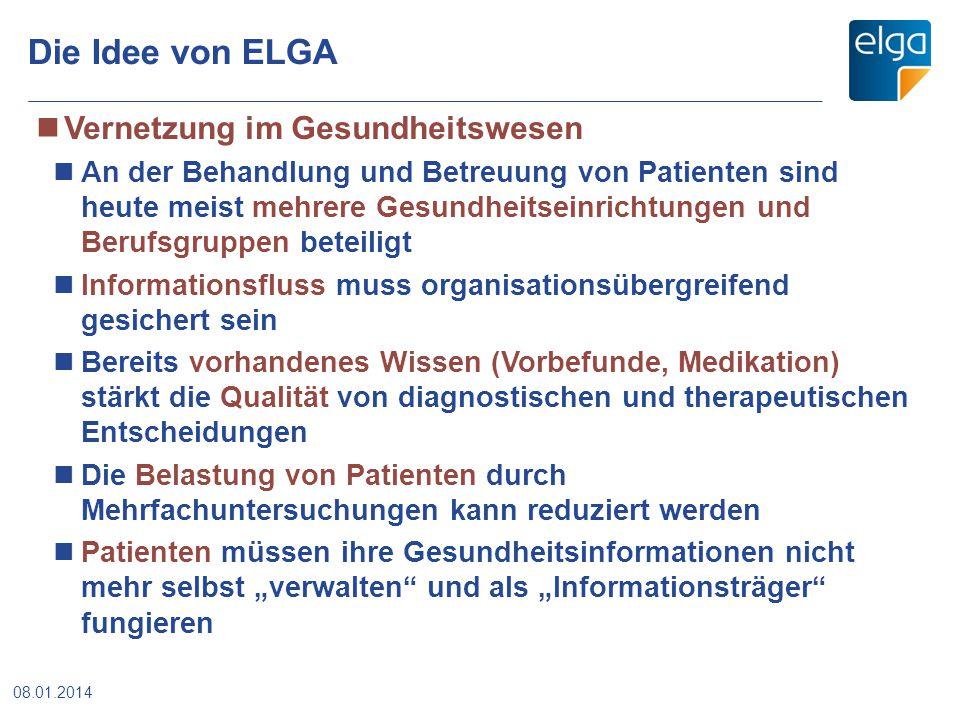 Die Idee von ELGA Vernetzung im Gesundheitswesen