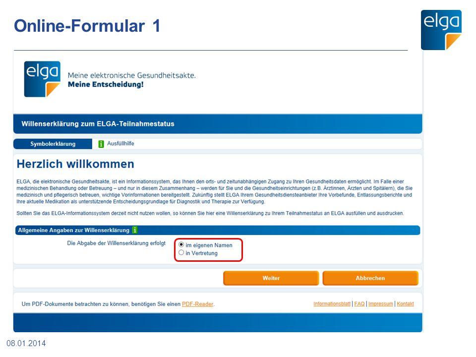Online-Formular 1 08.01.2014