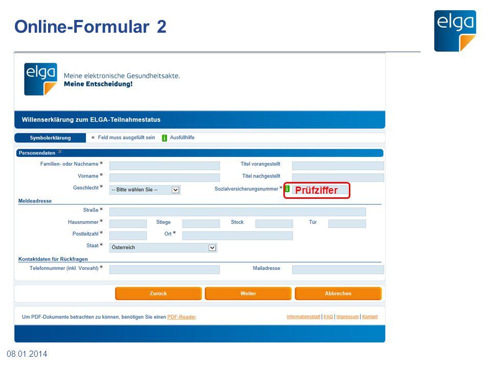 Online-Formular 2 Prüfziffer 08.01.2014
