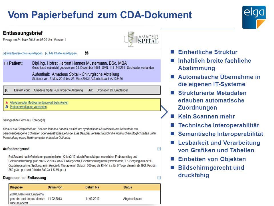 Vom Papierbefund zum CDA-Dokument