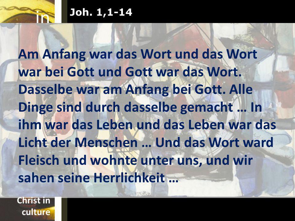 Joh. 1,1-14