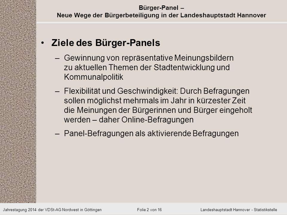 Ziele des Bürger-Panels