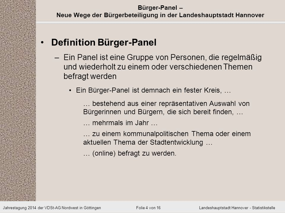 Definition Bürger-Panel