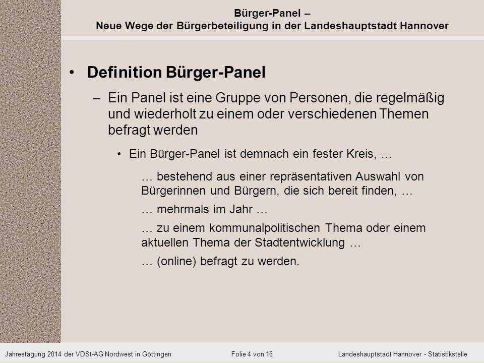 Definition Bürger-Panel