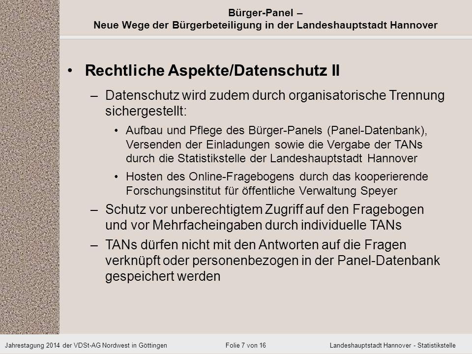 Rechtliche Aspekte/Datenschutz II