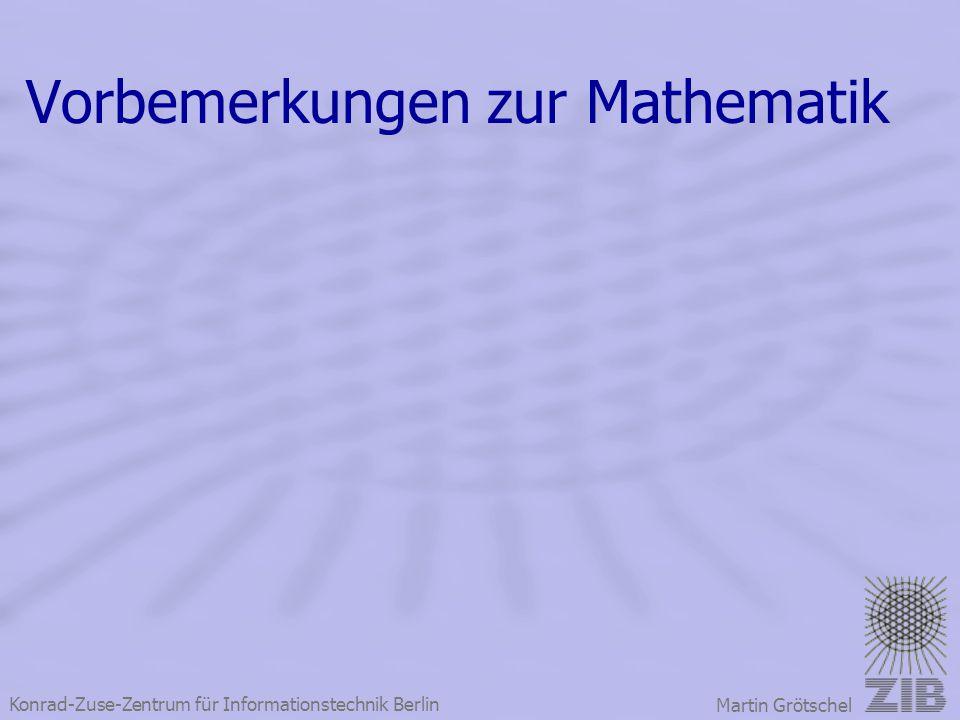 Vorbemerkungen zur Mathematik
