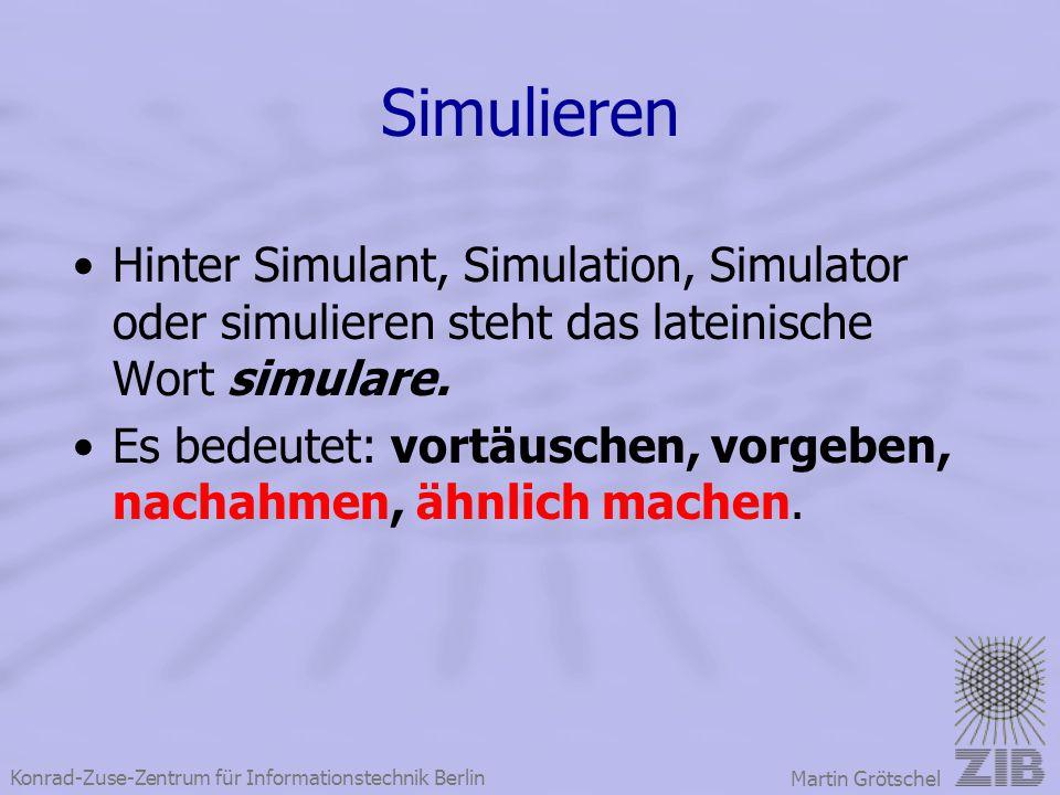 Simulieren Hinter Simulant, Simulation, Simulator oder simulieren steht das lateinische Wort simulare.