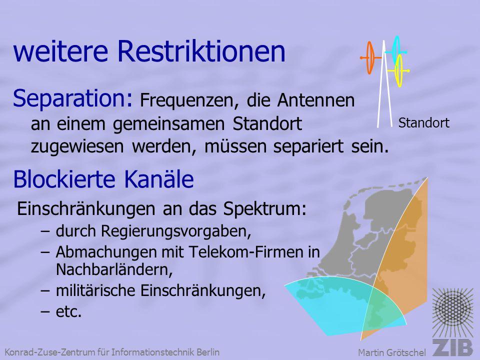 weitere Restriktionen