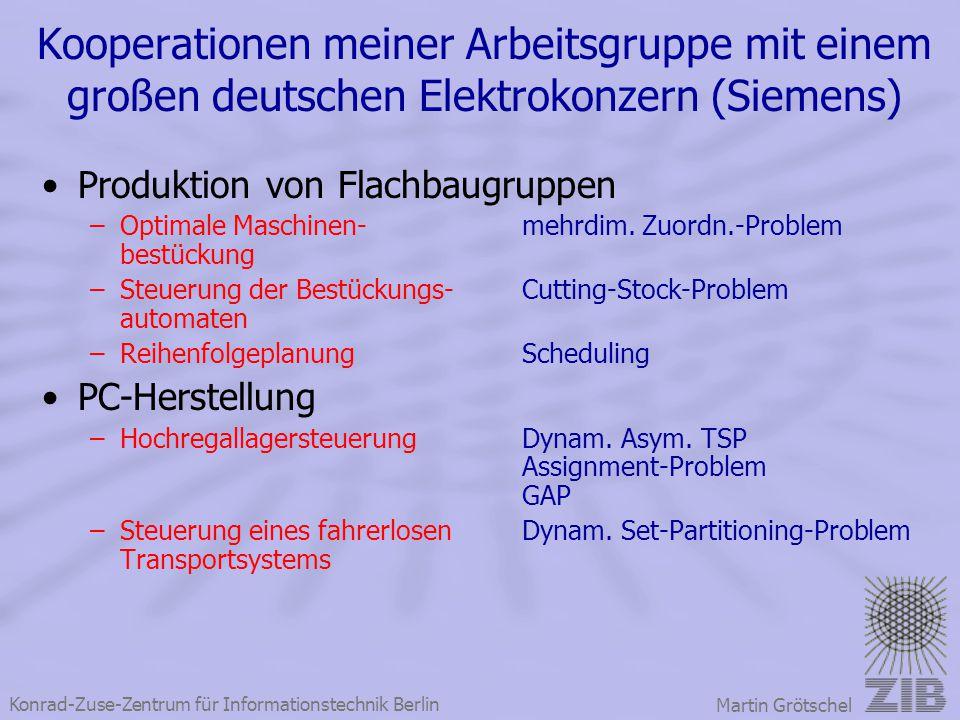 Kooperationen meiner Arbeitsgruppe mit einem großen deutschen Elektrokonzern (Siemens)