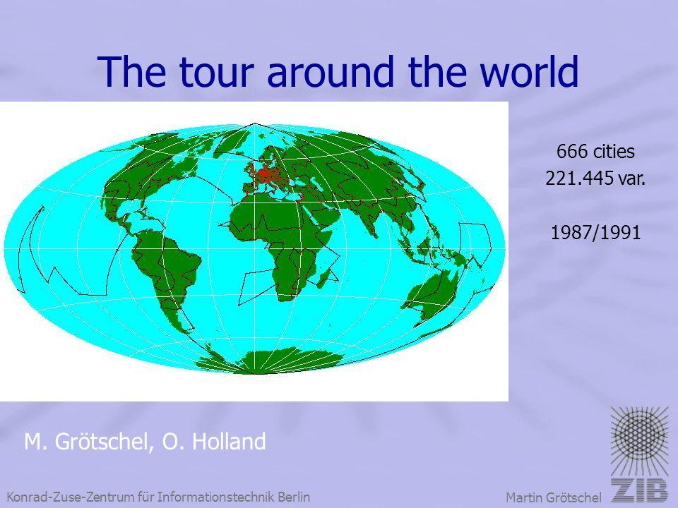 The tour around the world