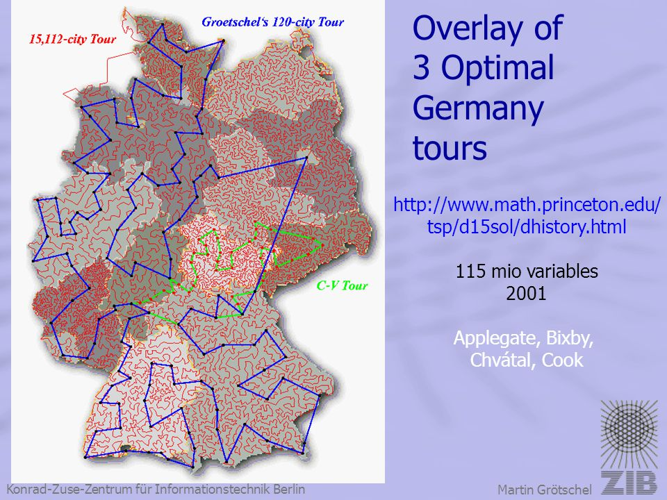 Overlay of 3 Optimal Germany tours