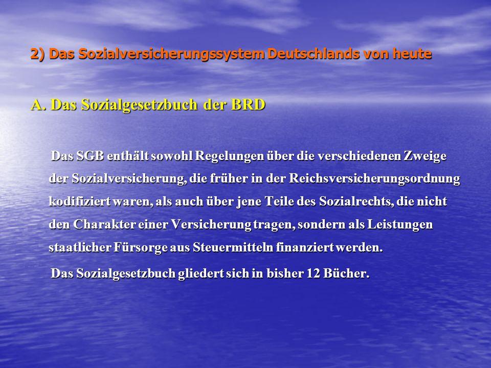 2) Das Sozialversicherungssystem Deutschlands von heute