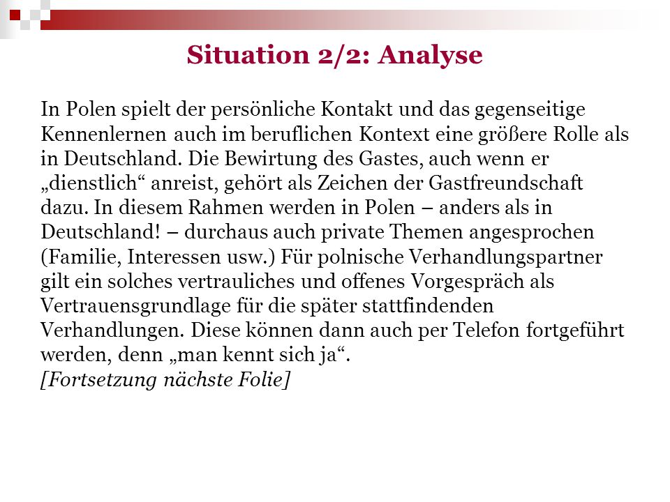 Situation 2/2: Analyse