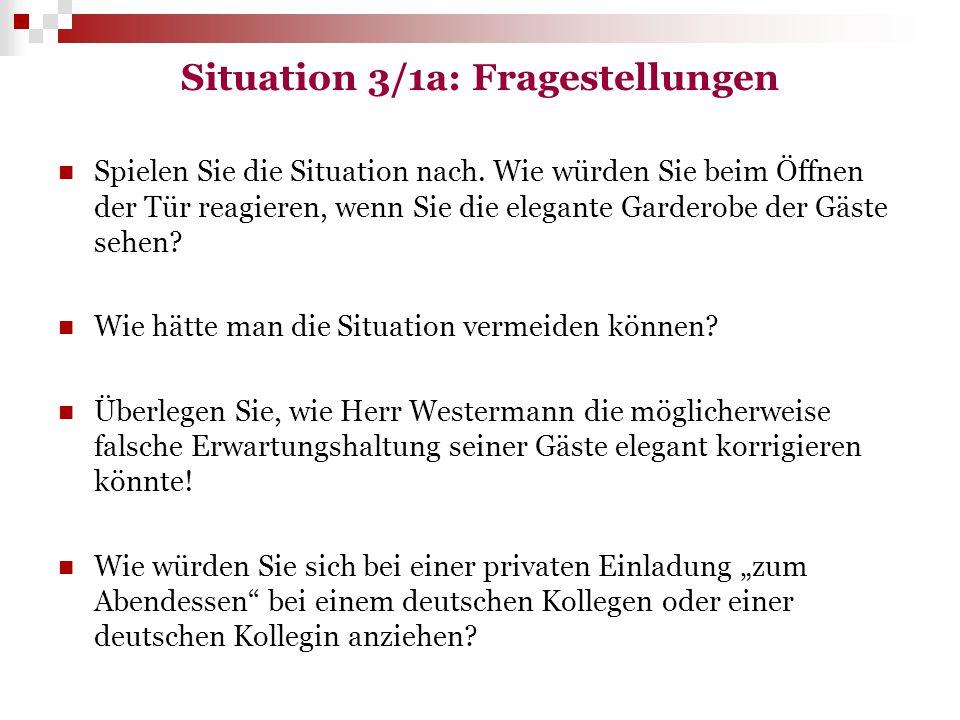 Situation 3/1a: Fragestellungen