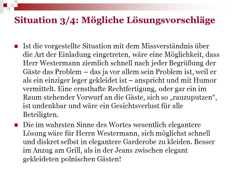 Situation 3/4: Mögliche Lösungsvorschläge