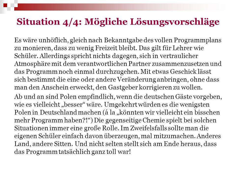 Situation 4/4: Mögliche Lösungsvorschläge