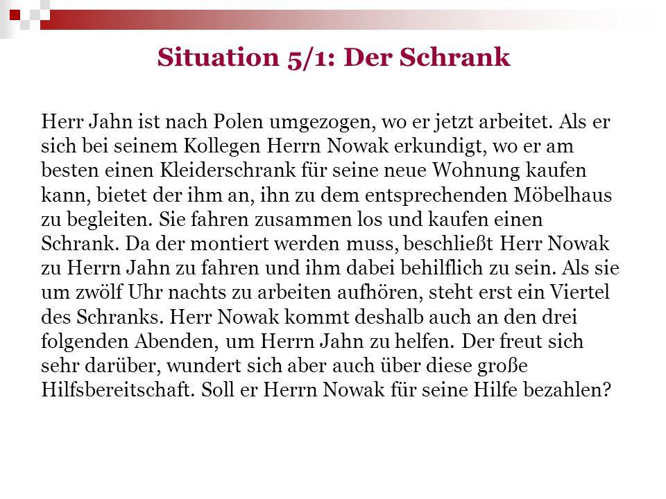Situation 5/1: Der Schrank