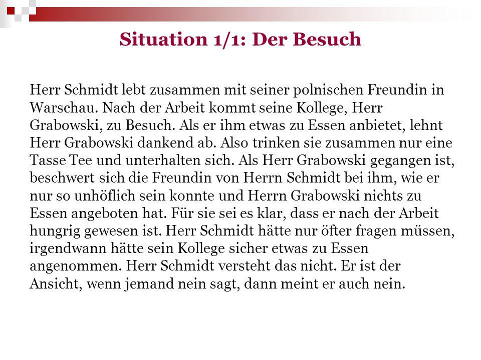 Situation 1/1: Der Besuch