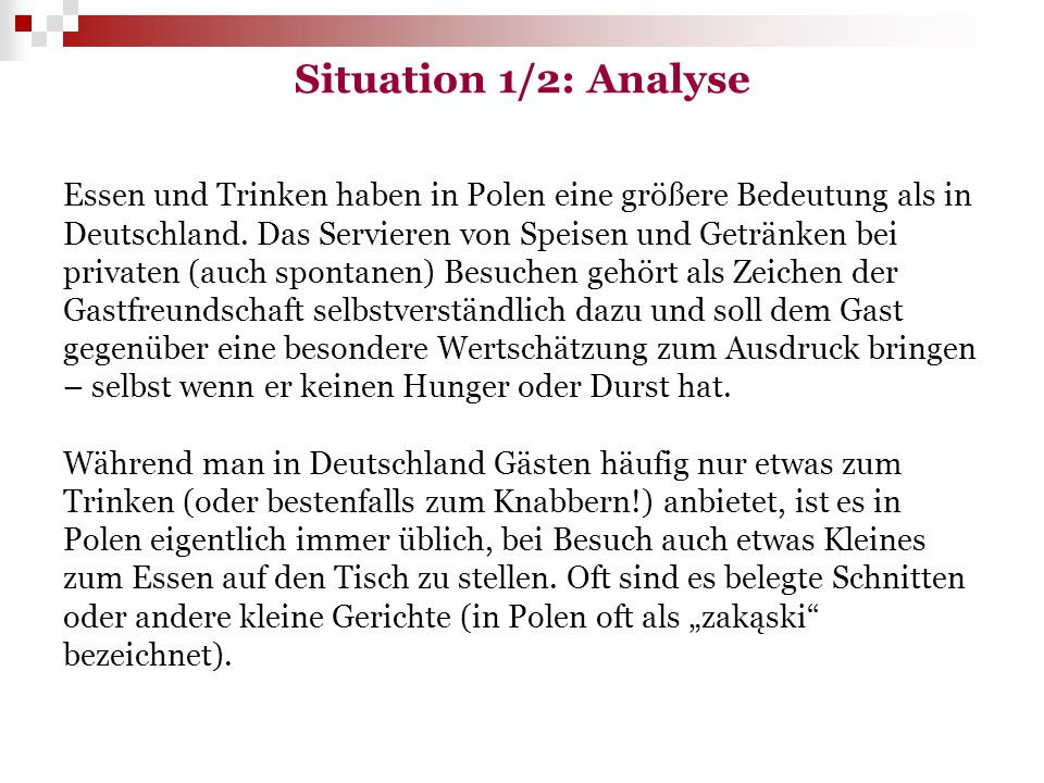 Situation 1/2: Analyse