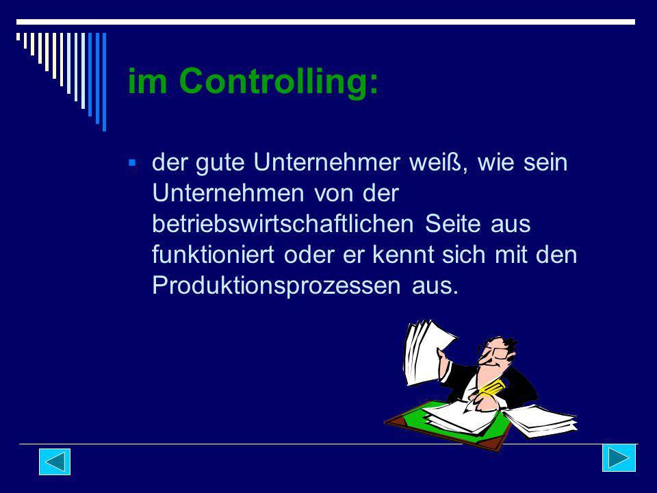 im Controlling: