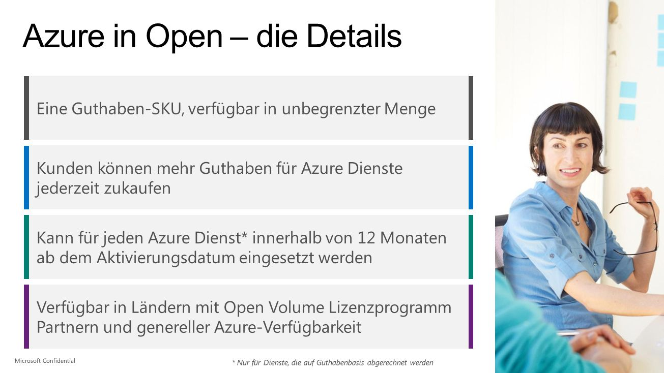 Azure in Open – die Details