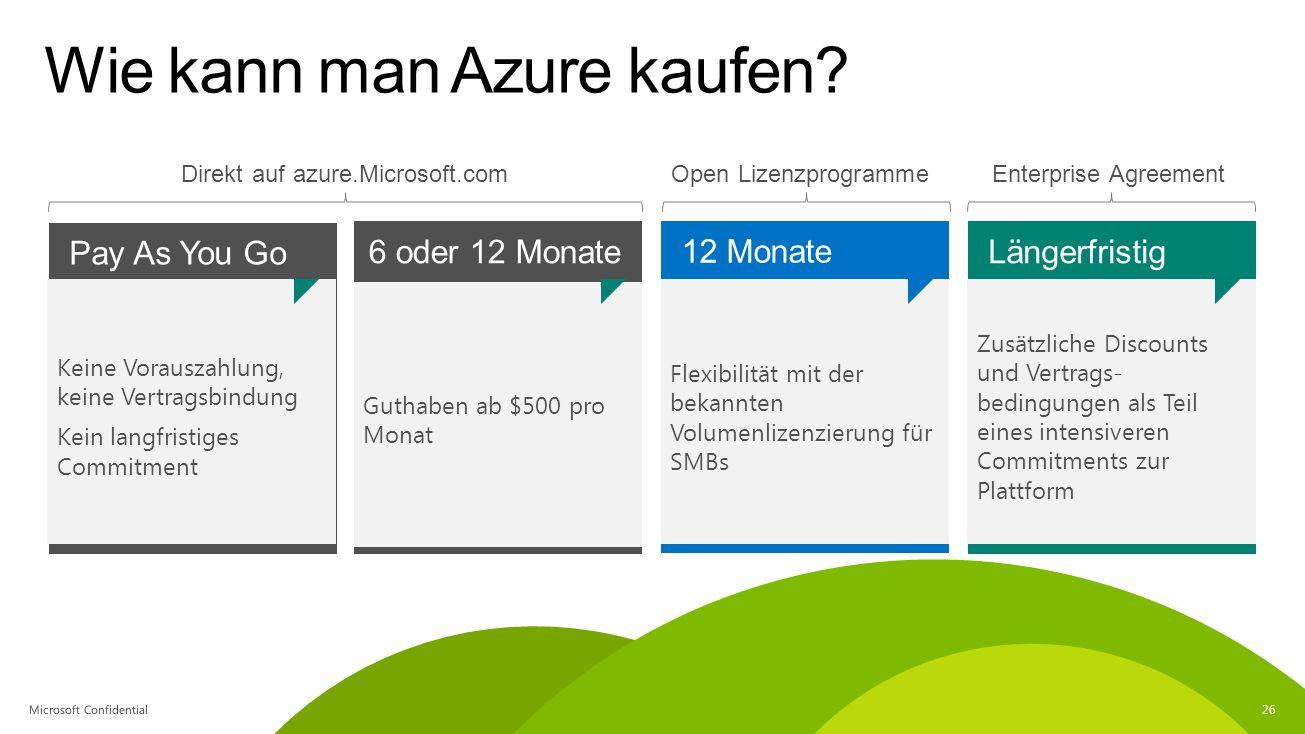 Wie kann man Azure kaufen
