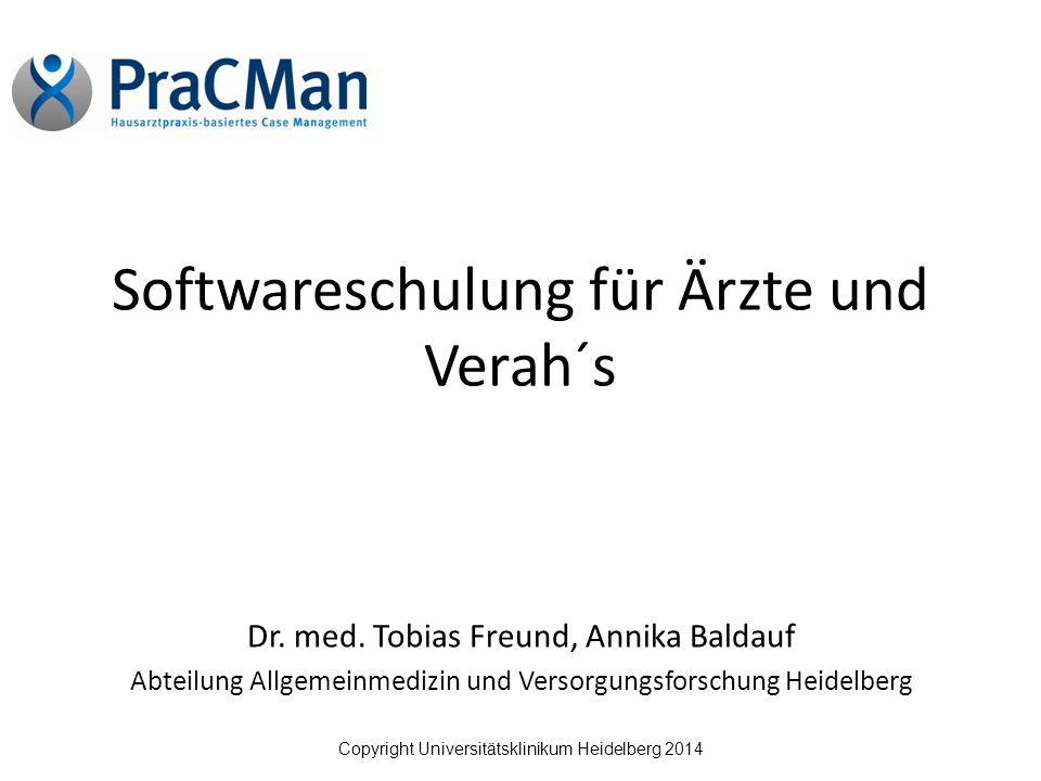 Softwareschulung für Ärzte und Verah´s