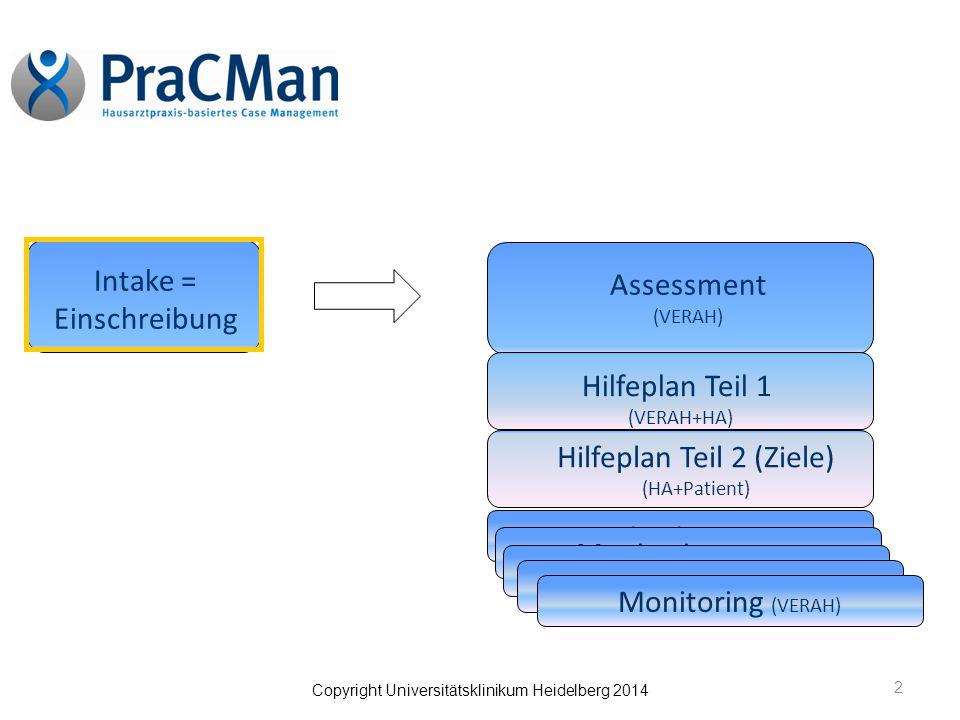 Intake = Einschreibung Assessment (VERAH)
