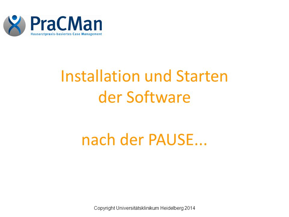 Installation und Starten der Software