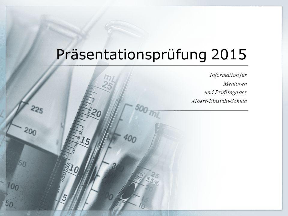 Präsentationsprüfung 2015