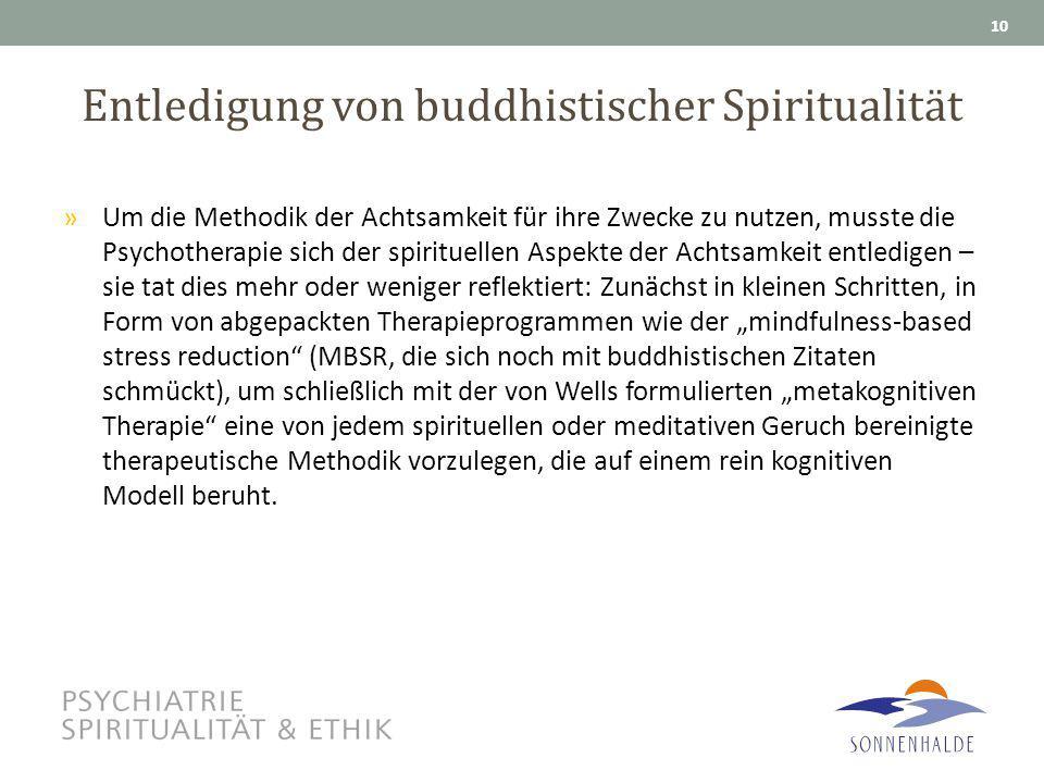 Entledigung von buddhistischer Spiritualität