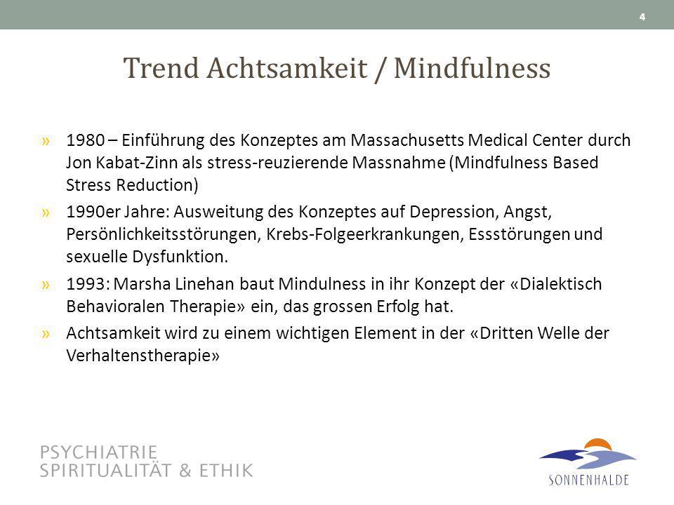 Trend Achtsamkeit / Mindfulness