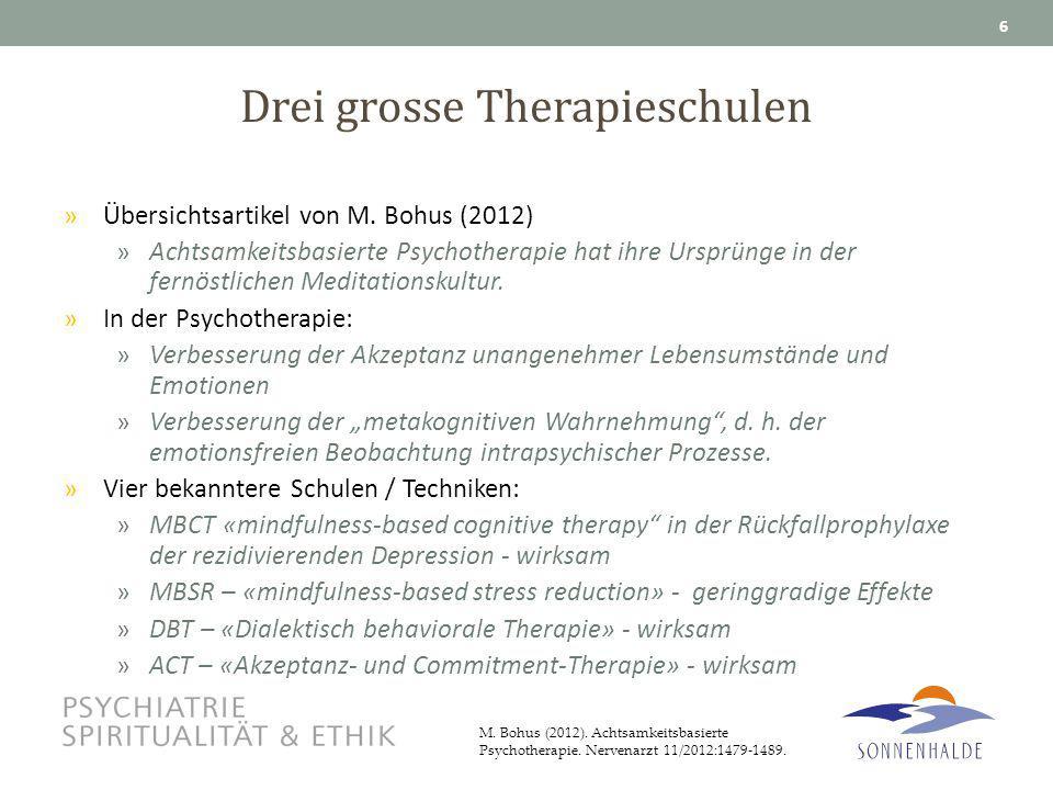 Drei grosse Therapieschulen