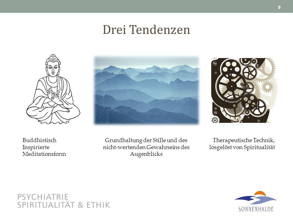 Drei Tendenzen Buddhistisch Inspirierte Meditationsform