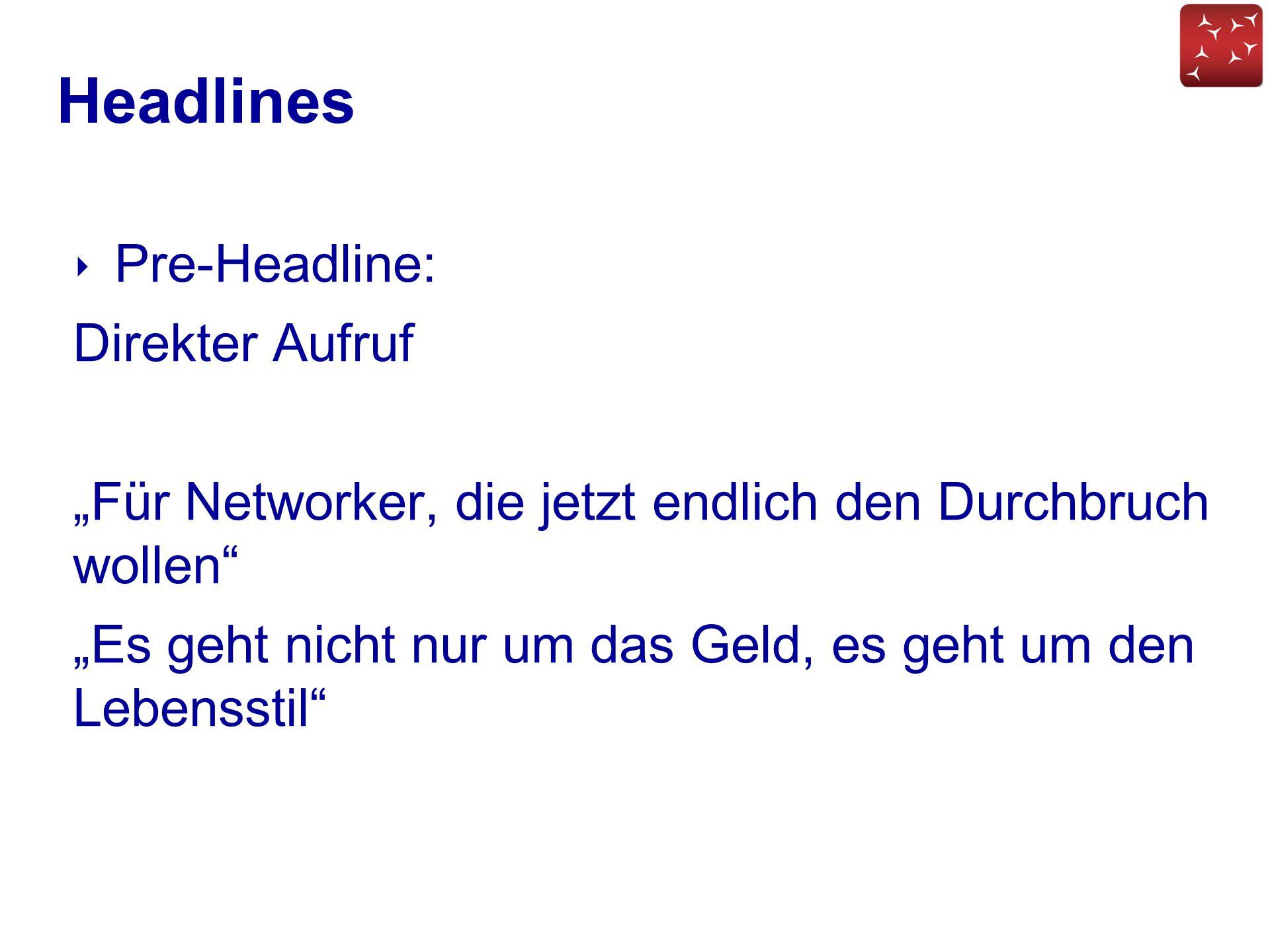 Headlines Pre-Headline: Direkter Aufruf