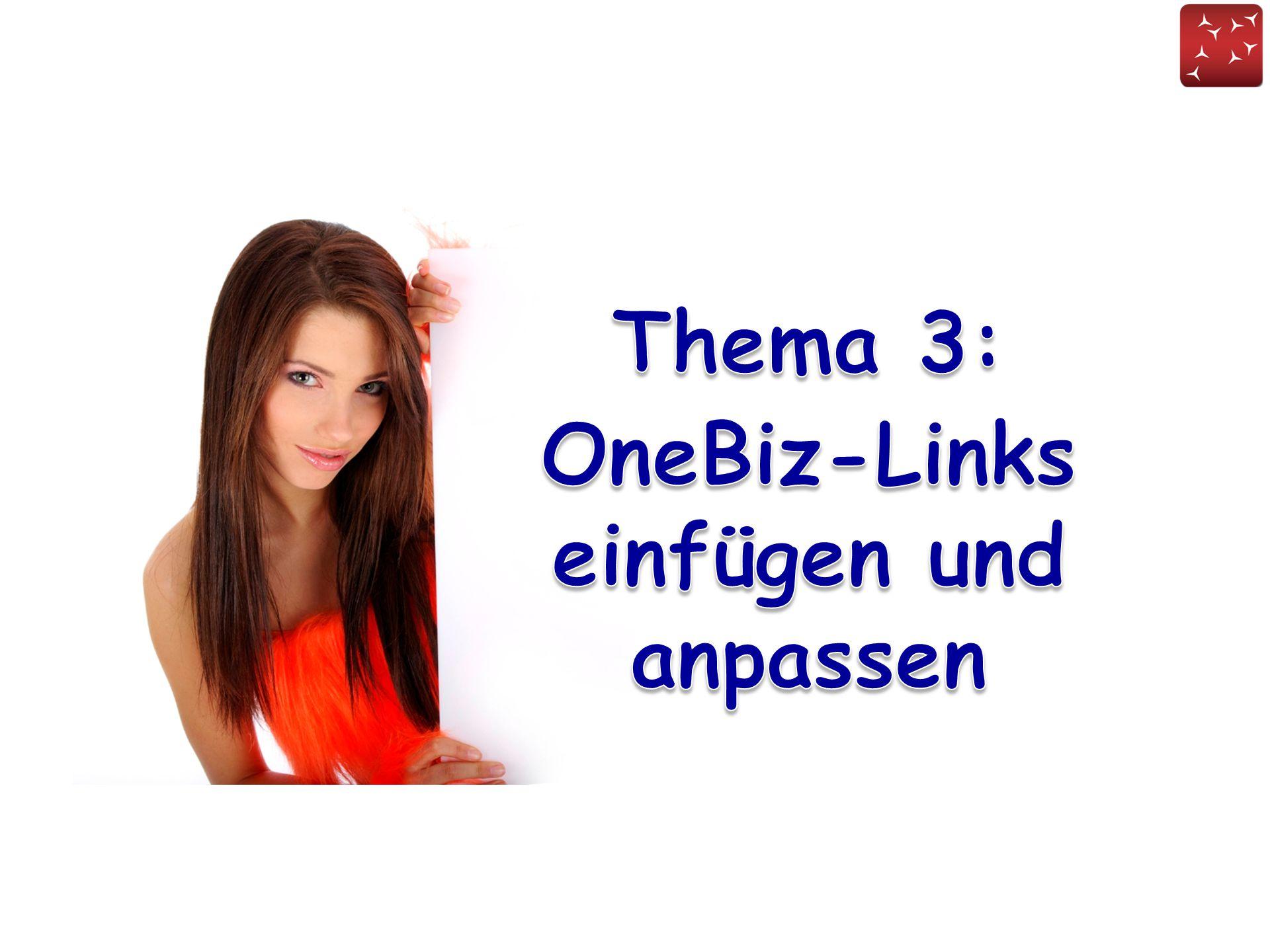 OneBiz-Links einfügen und anpassen