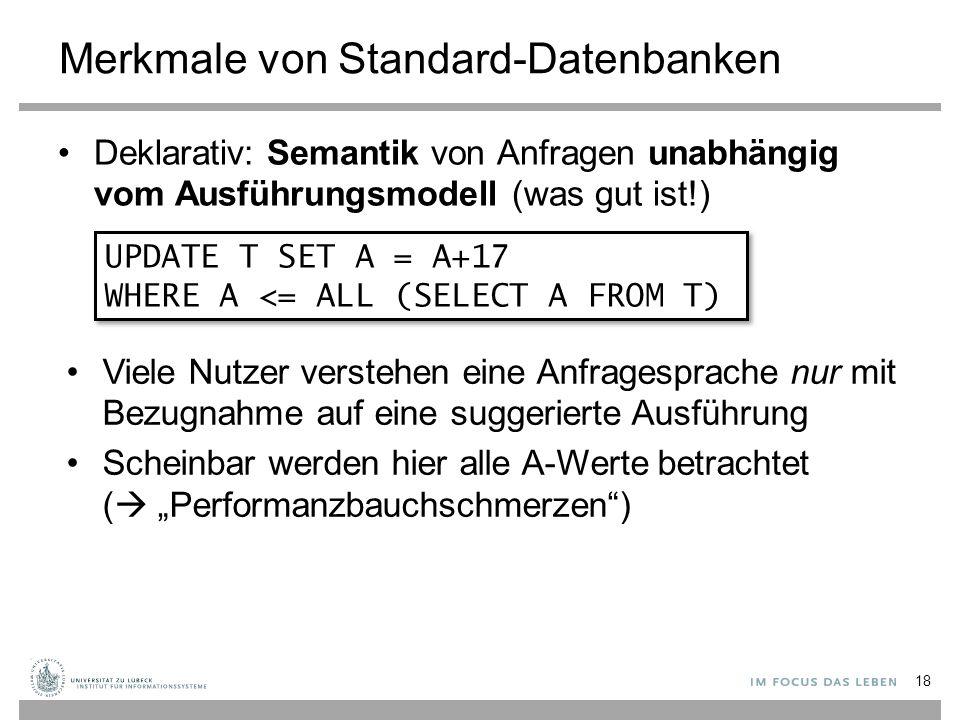 Merkmale von Standard-Datenbanken