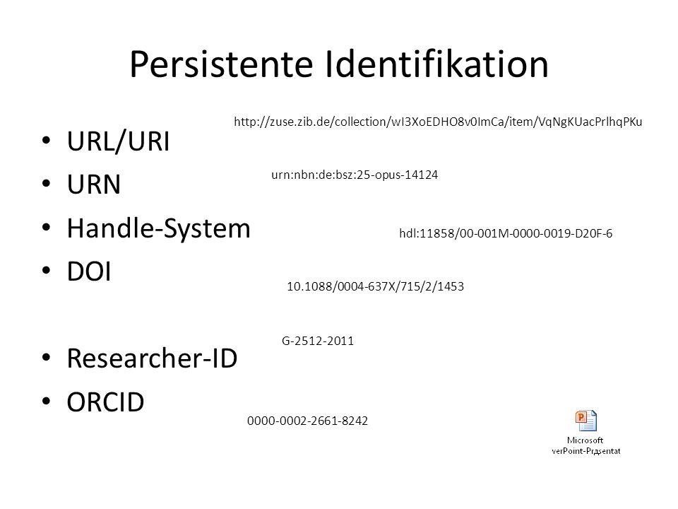 Persistente Identifikation