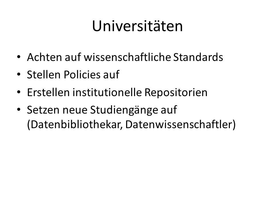Universitäten Achten auf wissenschaftliche Standards