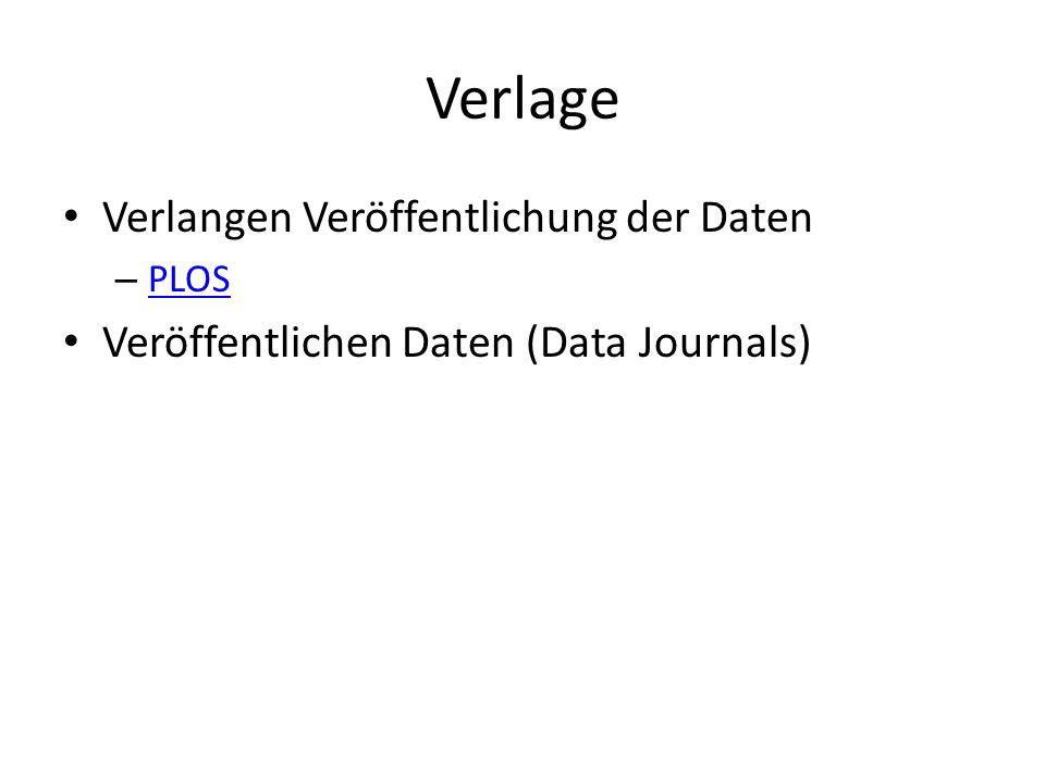 Verlage Verlangen Veröffentlichung der Daten