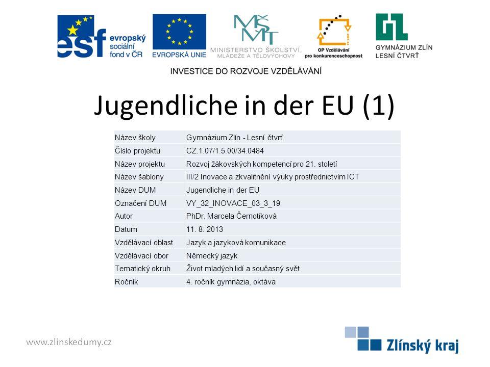 Jugendliche in der EU (1)