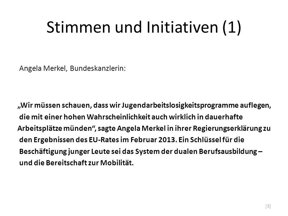 Stimmen und Initiativen (1)