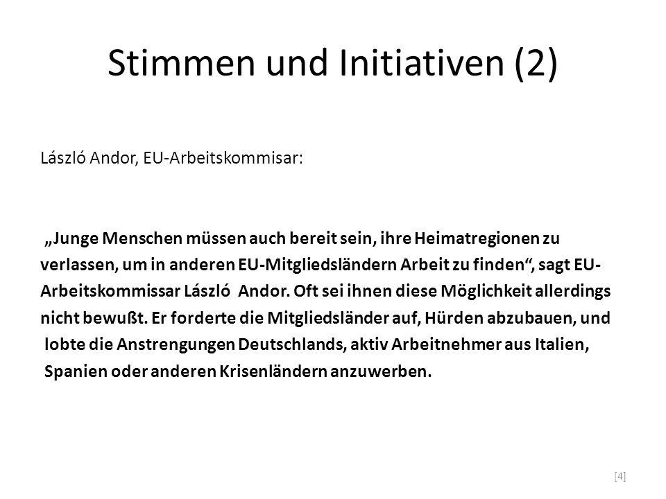 Stimmen und Initiativen (2)