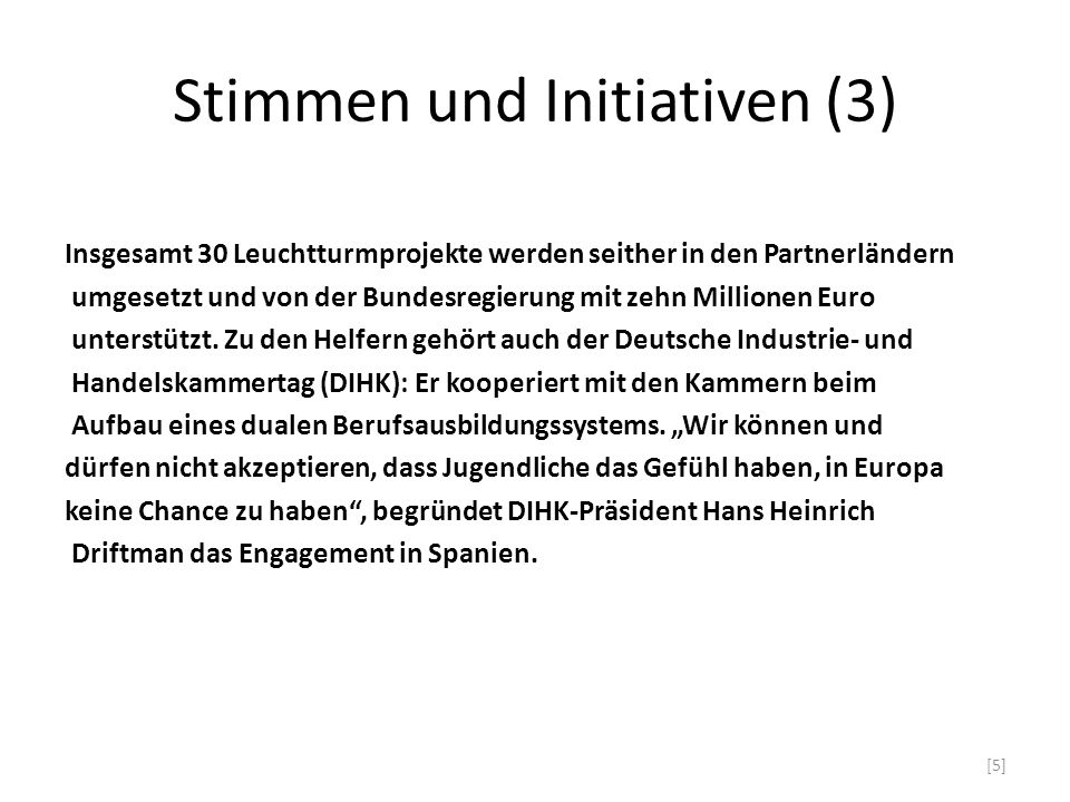 Stimmen und Initiativen (3)
