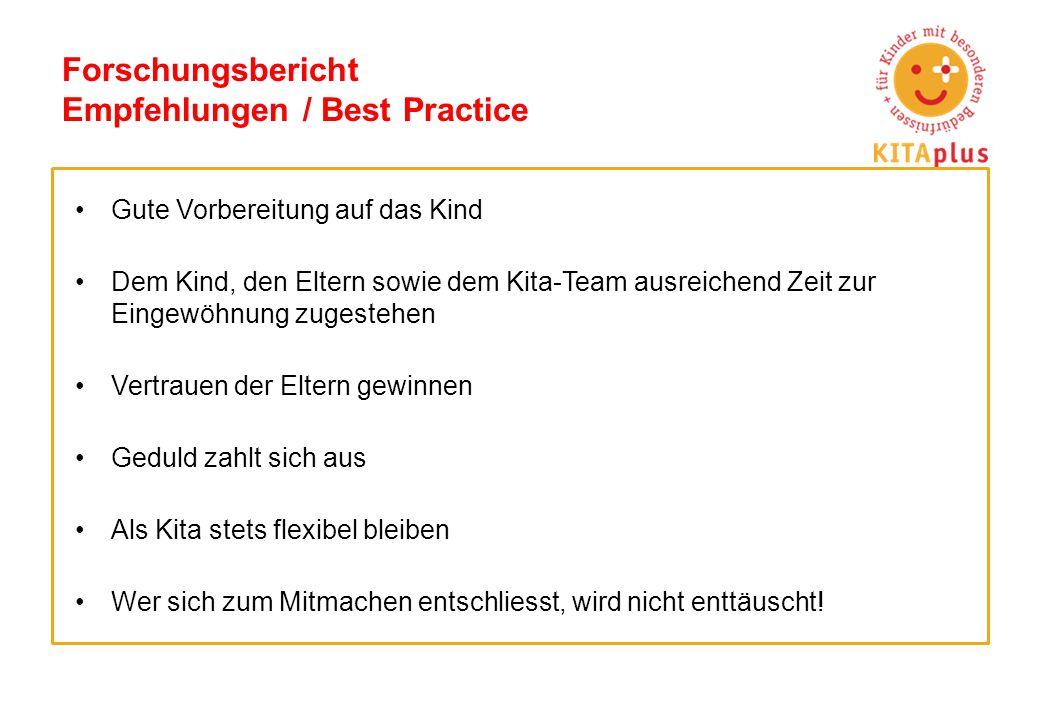 Forschungsbericht Empfehlungen / Best Practice