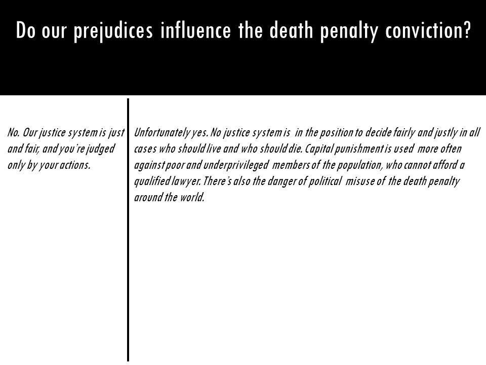 Do our prejudices influence the death penalty conviction
