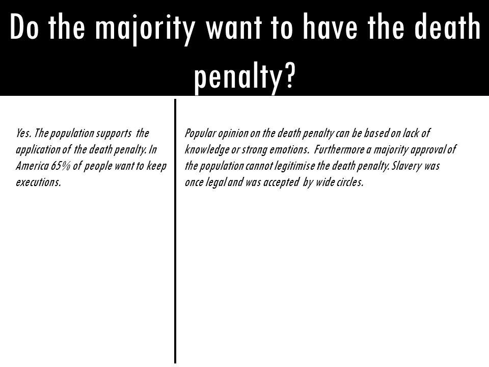 Do the majority want to have the death penalty